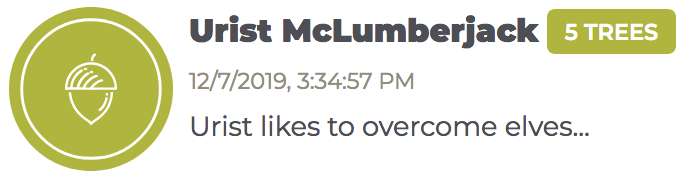 Urist McLumberjack donation
